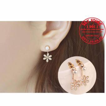 Khuyên tai nữ thời trang đính hoa dễ thương BT555