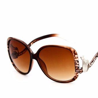 Mắt kính thời trang , chống nắng chống bụi cao cấp + bao da bảo vệ kính H187(NÂU)