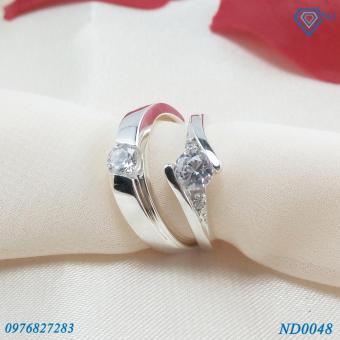 Nhẫn đôi Nhẫn cặp bạc đẹp ND0048