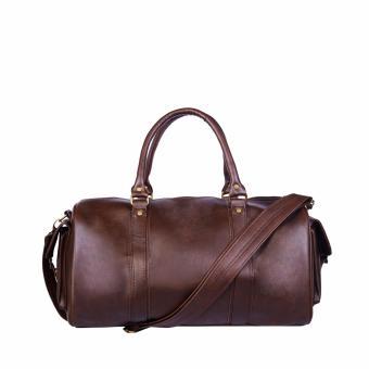 Túi du lịch xách tay Laka nam simili cao cấp màu nâu TX02
