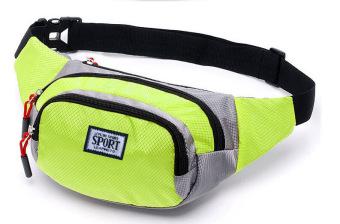 Túi đeo hông du lịch thời trang chống nước thời trang phong cách thể thao (Xanh neon)