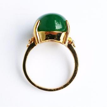 Nhẫn nữ Lamia mạ vàng 18K đính đá thạch bích tuyệt đẹp (LANHA001)