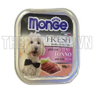 Bộ 3 hộp thức ăn cho chó Monge Fresh Tuna (Pate cá ngừ) 100g