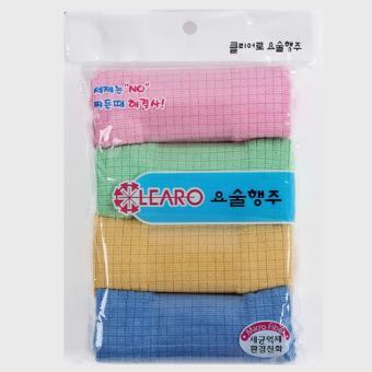 Bộ 6 khăn Microfiber caro chuyên dụng lau xe ô tô