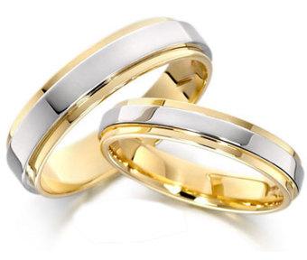 Nhẫn cặp bạc mạ vàng 14k NC02