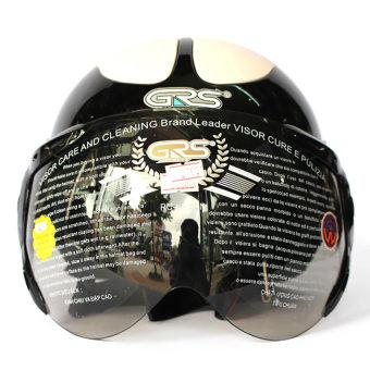 Mũ bảo hiểm có kính GRS102 (Đen)