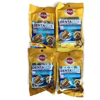 Bộ 4 Gói Bánh Xương Chăm Sóc Răng Dành Cho Chó Con Pedigree DentaStix 75g (Mỹ)