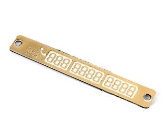 Thanh sắt dán số điện thoại lên kính xe ô tô ( Vàng )