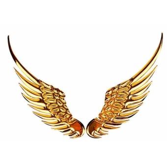 Miếng dán cho xe hơi - Đôi Cánh Thiên Thần (Vàng)