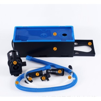 Máy bơm mini bể cá - Máy bơm + máng lọc bể cá KRS388 công suất lớn 1785 L/H hiệu quả 3 trong 1 - BH UY TÍN.
