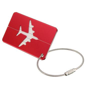 New Aluminium Travel Luggage Baggage Tag Suitcase Identity Address Name Labels