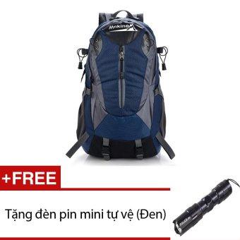 Ba lô du lịch chống nước siêu nhẹ Seonhi Mnkinox (Xanh) + Tặng 1 đèn pin mini (Đen)