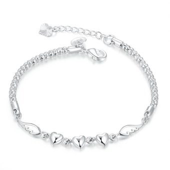 H365 Charming China Supplier Love Forever Silver Bracelet Silver - Intl