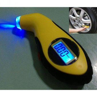 Đồng hồ đo áp suất lốp điện tử cho ô tô xe máy Senviet SV64 (Vàng)