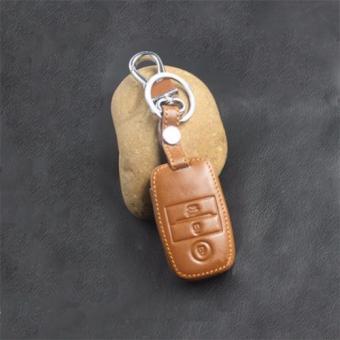 Bao da chìa khóa xe KIA (Nâu)