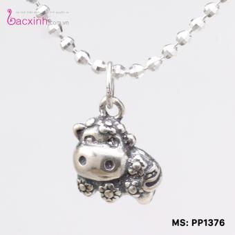 Mặt đeo dây chuyền, lắc tay, lắc chân cho bé 12 con giáp bạc Thái S925 Bạc Xinh - Quà tặng tuổi Sửu PP1376