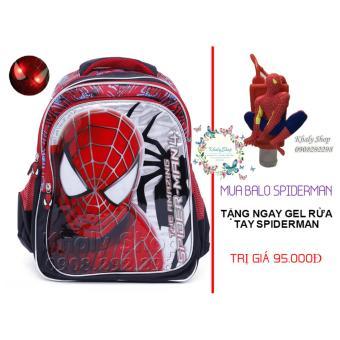 MUA 1 TẶNG 1 (Ba lô siêu nhẹ Spiderman có đèn giành cho trẻ em và học sinh (MS004 SIZE NHỎ))