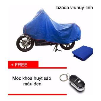 Combo bạt phủ xe máy ( Xanh ) + free móc chìa khóa ( Đen )