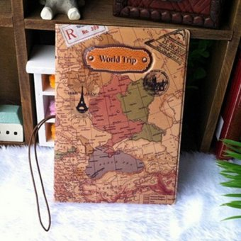 Cyber 3D Map World Trip Pattern Travel Passport Holder Cover Identity Document Folder - Intl