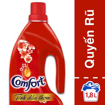 Nước xả vải Comfort tinh dầu thơm quyến rũ chai 1.8l