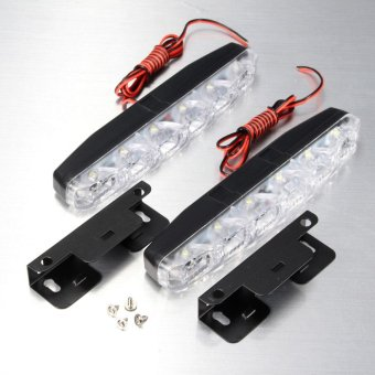 2x Super Bright Waterproof 6 LED DRL Car Daytime Running Fog/Driving Light Lamps - intl