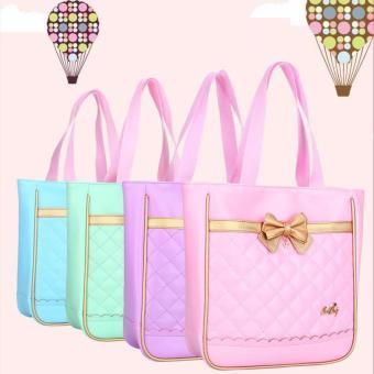 Túi xách kiểu dáng Hàn Quốc cho bé yêu chống nước mưa (xanh)