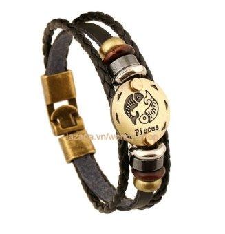 Vòng đeo tay Nam hình 12 chòm sao hoàng đạo cung Pices - Song Ngư - VĐT10