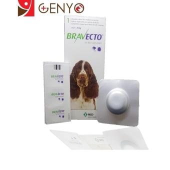 Genyo Điều Trị Rận Tai Ve Ghẻ Bọ Chét Chấy Chó 10-20kg Bravecto + KM 1 Cục Xà Bông Tắm Chó