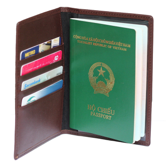 Vỏ bao passport - RAICA (Nâu)
