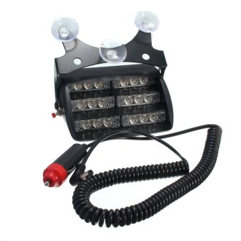 Car 18 LED Warning Light Emergency Lamp Amber For Truck SUV - Intl