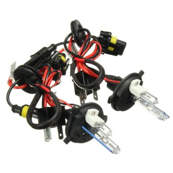2 pcs H4 H4-2 8000K 35W 55W Hi-Lo Dual Beam Car Xenon HID Headlight Light Bulb Kit - Intl