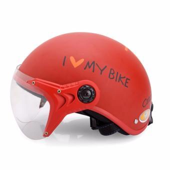Mũ bảo hiểm KC I Love My Bike cao cấp (Đỏ)