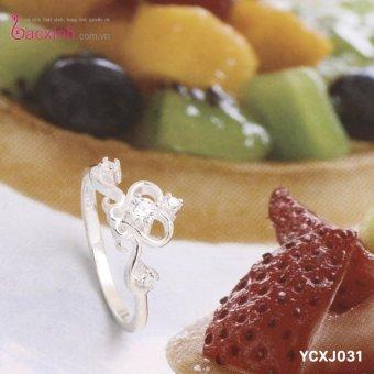 Nhẫn nữ trang sức bạc Ý S925 Bạc Xinh - Vương miện đẹp YCXJ031 (size 11)