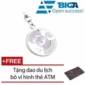 Móc Treo Chìa Khóa Lịch Vạn Niên + Tặng 1 Dao Bỏ Ví Hình Thẻ ATM