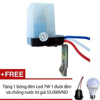 Công tắc cảm biến ánh sáng PG LS6B + Tặng 1 bóng đèn Led 7W 1 đuôi đèn chống nước