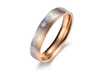 Nhẫn Titan Nữ Khắc Chữ; Đính Đá Tuyệt Đẹp