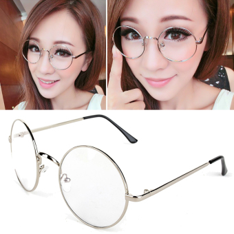 Round Glasses Dress Up Spectacles (Sliver)