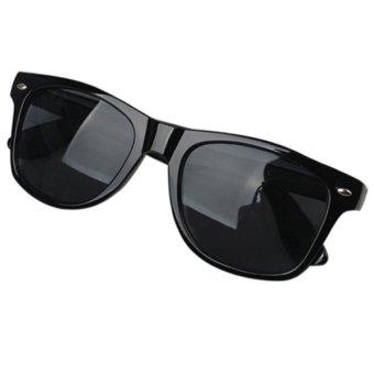 Bluelans Unisex Mercury Mirror Shade UV Protection Sunglasses Glasses Bright Black