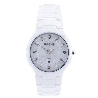 Đồng hồ nam dây đá vỏ đá cao cấp Rgens 9271 (Trắng)
