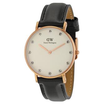 Đồng hồ nữ dây da Daniel Wellington 0951DW (Đen).