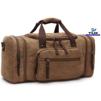 Túi du lịch cỡ đại vải canvas Thành Long TL8146 1(Nâu)