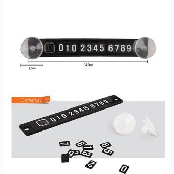 Thẻ đỗ xe ô tô hiển thị số điện thoại