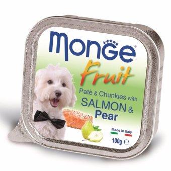 Pate bổ sung dưỡng chất cho chó vị cá hồi & lê hiệu Monge Salmon Pear (Ý)