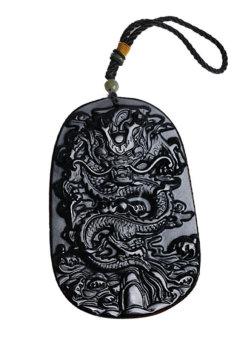 Ngọc Rồng đen Obsidian Trừ tà Ali Chien Chien