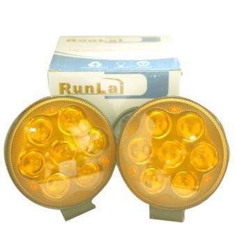 Bộ đèn Led 7 bóng tròn - Vàng bi (1 cặp)