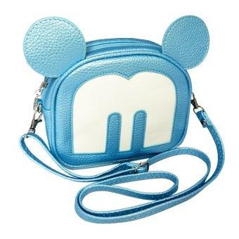 Túi đeo chéo chữ M China Oem (Xanh)