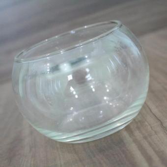 bể cá chậu cây thuỷ tinh D14cm x H12cm