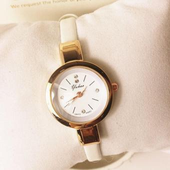 Đồng hồ nữ mặt tròn dây thanh mãnh