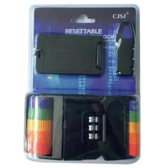 Khóa số vali dây đai an toàn có thẻ chống trộm