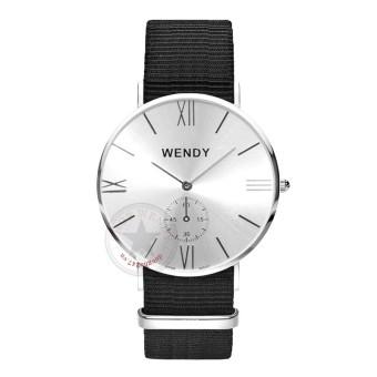 Đồng hồ nam dây vải Wendy CH222-1 (Bạc)